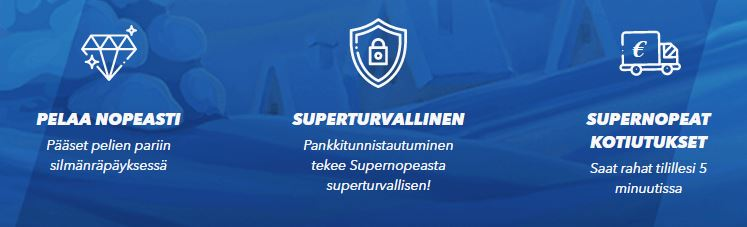 SuperNopea on superturvallinen kasino