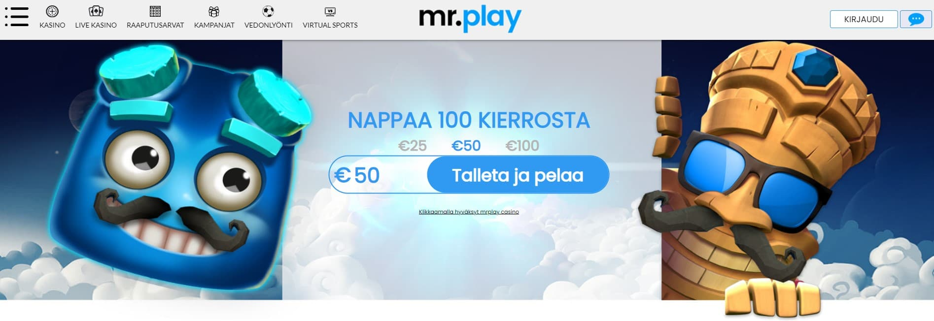 Mr Play kasino etusivu