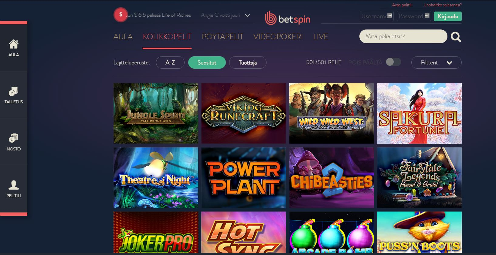 betspin pelit