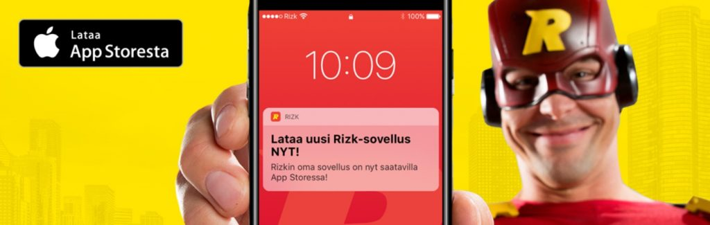 rizk mobiilisovellus